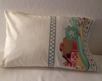 """Handmade Colorful """"Lamb"""" Travel Pillowcase/Child Pillow Case - Free Shipping in USA"""