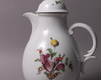 """Nymphenburg Flowers Coffee Pot  9.45"""" in height handpainted Germany"""