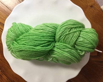 Spring Green Kettle Dyed Wool Yarn