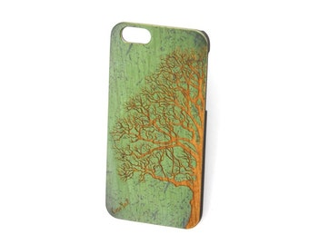 Green Vintage Half Tree iPhone 7 case, iphone 6s case iphone 6 case iphone 5 case iphone 6s plus case iphone 6 plus case