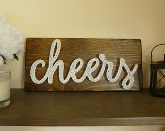 Cheers String Art, Cheers Sign, Bar Sign
