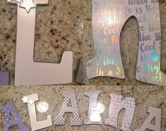 Dreamy Nursery Themed Letters
