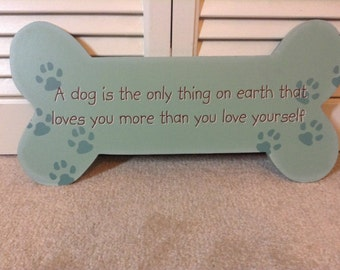 Green Doggie Bone Sign