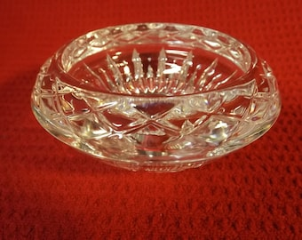 Weighted Lead Crystal Czech glass candy or jewelery dish