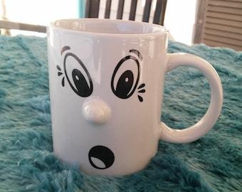 A Vintage Ceramic Face Mug
