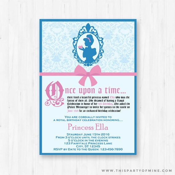 fairytale princess invitation printable by thispartyofmine. Black Bedroom Furniture Sets. Home Design Ideas