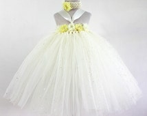 Dress ~ Puffy yellow tutu outfit ~ Wedding, Bridesmaid, Flower girl, Summer, Spring, Easter, Holidays, Birthday, Party, Carnival, Pageant