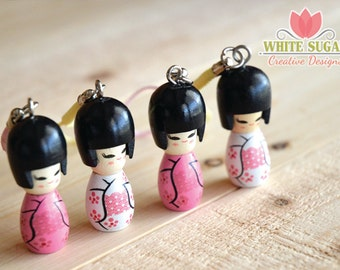 Kokeshi Doll Journal Charms- Kokeshi Doll planner charm- Kokeshi Doll Charm