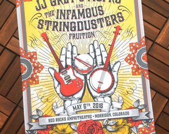 JJ Grey & MOFRO-Infamous Stringdusters-Fruition - May 6th 2016 - Red Rocks, Co Event poster