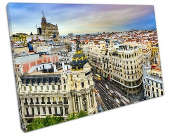Madrid CITYSCAPE Canvas WALL ART C2406