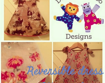 Girls reversible dress. Age 24 months. Will serve as a tunic afterwards.