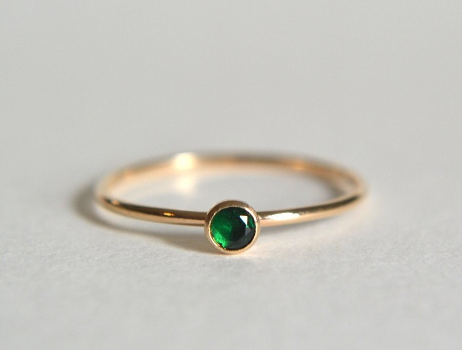 gold emerald ring gold filled emerald ring emerald ring