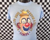 Ringling Bros and Barnum & Bailey Circus T-shirt / Vintage Circus Shirt / Soft and Thin / 50/50 / Small Vintage Tshirt / Clown / 80s Shirt