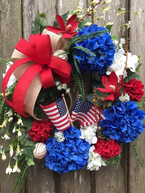 Fourth Of July Wreath Memorial Day Wreath Patriotic Wreath
