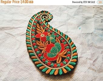 15% OFF Paisley Applique, Embroidery Applique, Bridal Applique, Indian Applique