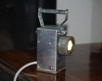 Vintage Miner/Railway Desk Light