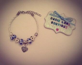 Beautiful hand made European style glass bead bracelet