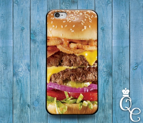 iPhone 4 4s 5 5s 5c SE 6 6s 7 plus iPod Touch 4th 5th 6th Generation Cool Food Bacon Cheese Burger Funny Custom Phone Cover Cute Gift Case