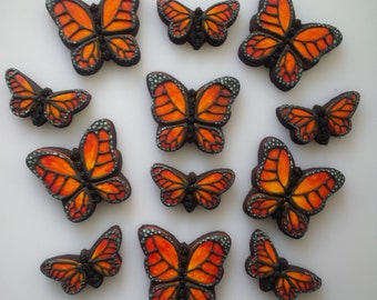 Monarch Butterfly Cookies - One Dozen Decorated Shower / Wedding Cookies