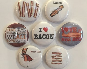 Bacon Magnets - set of 7