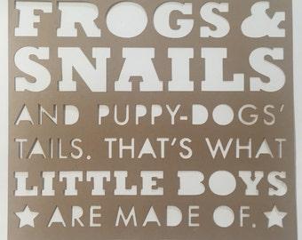 Frogs & snails scrapbooking paper