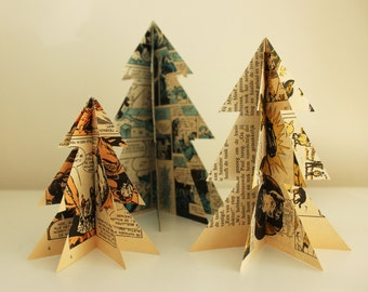 Trees of paper (Christmas)