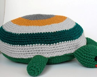 Large crochet floor pillow huge round carpet large toy for Grosse kissen kinderzimmer