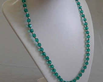 Teal Bead Necklace