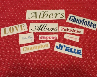 Any word decal, vinyl decal, personalized name decal, various font decals, cutomized decal, word vinyl decal, names, customized vinyl names