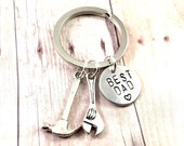 Best Dad Keychain, Father keychain, Hammer and wrench keychain, tools for carpenter, handyman keychain, fix it man