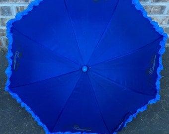 Simple and sleek Blue Motorcycle Parasol (umbrella)