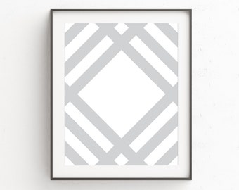 Monochrome Print, Gray Wall Art, Scandinavian Art, Living Room Prints, Printable, Geometric, Contemporary, Instant Download, Modern Wall Art