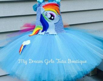 Rainbow dash tutu dress, My little pony tutu dress, MLP birthday dress, My little pony tutu, Rainbow Dash tutu, Rainbow dash dress, MLP tutu