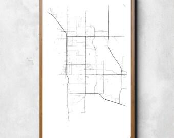 Map of Palm Springs, Palm Springs, Palm Springs art, Palm Springs map, Palm Springs print, Palm Springs decor, Palm Springs gift, Map Art