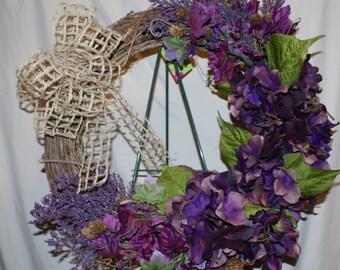 Grapevine Fall Purple Wreath