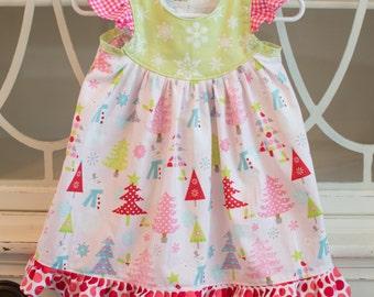 Holly Jolly Flutter Sleeve Dress for girls