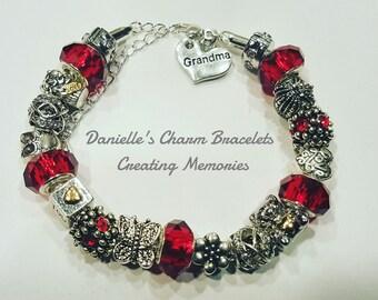 Gorgeous Red Charm Bracelet