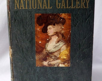 Rare book the National Gallery, 1912 / book 1 / Book Art / Art History / painting / works / book collection / artist gift