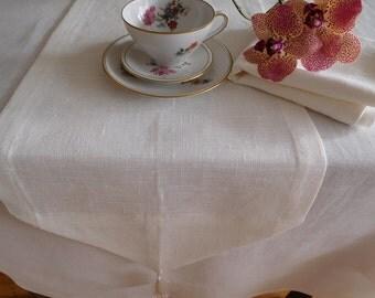 """Linen TABLE RUNNER White Table Decor 30 cm x 150 cm (12""""x 59"""")"""