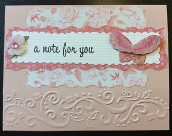 Homemade Card - A Note For You