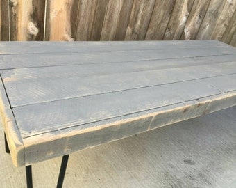 49 Shades Of Grey Coffee Table Pallet Wood Reclaimed Wood Hand Crafted