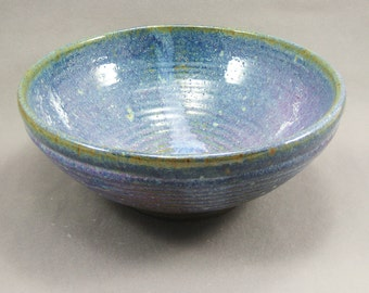 Pottery Large Bowl Rutile Blue CHUN20