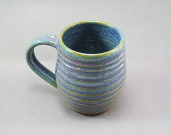 Pottery Coffee Mug Rutile Blue CHUN28