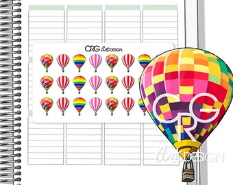 Hot Air Balloons | Planner Erin Condren Plum Planner Filofax Sticker