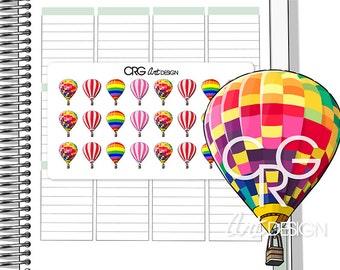 Hot Air Balloons | Planner Erin Condren Plum Planner Filofax Sticker