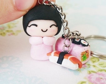 Japanese Girl Keychain