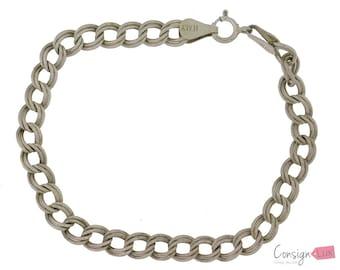 Sterling Silver Double Linked Charm Bracelet