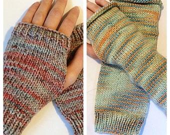 Knit Fingerless Gloves, Knit Wrist Warmers, Knit Arm Warmers, Short Fingerless Gloves, Long FIngerless Gloves