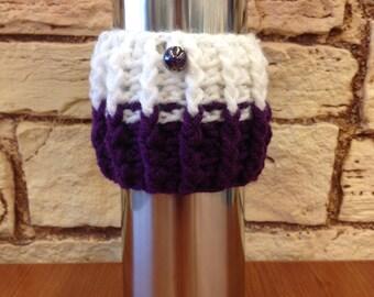 Purple and sparkley white split