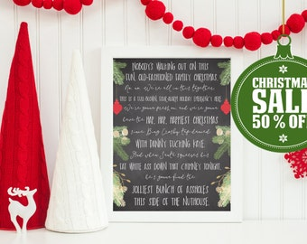 50% OFF - Christmas Vacation Quote- INSTANT DOWNLOAD - Printable 8x10, & 16x20